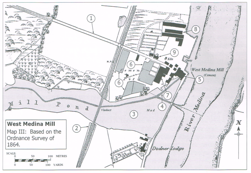 1864 map of West Media Mill